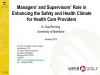 Preview of: Manager and Supervisor Roles: Enhancing the Safety and Health Climate for Health Care Providers Power Point Presentation